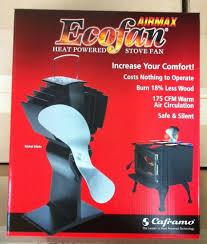 ecofan wood stove fan caframo 812amkbx ecofan airmax heat power wood stove fan nickel