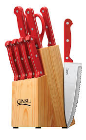 Red Kitchen Knives by Amazon Com Ginsu Essential Series 10 Piece Stainless Steel