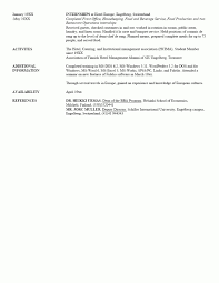 sample of list references resume reference layout job proposal