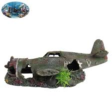 plane wreck fish tank ornament fishtankbank
