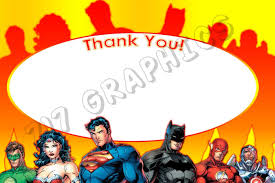 Spiderman Invitation Cards Justice League 4x6 Thank You Card Printable