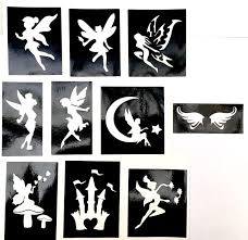 glitter tattoo stencils fairy castle pack professional quality 3