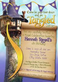 caillou birthday invitations tangled rapunzel customizable birthday invitation