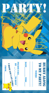 Invitation Cards To Print Pokemon Coloring Pages Birthday Party Invitation Free And