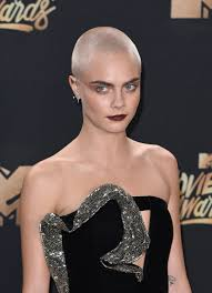 cara delevingne shaved head tattoo popsugar beauty