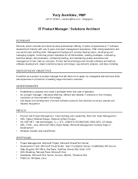 Linux Resume Process It Solution Architect Resume Free Resume Example And Writing