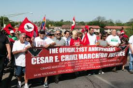 thousands march for justice in honor of césar chávez