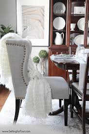Wingback Dining Chairs Sale Wingback Dining Chair With Nailhead Trim Dining Room Ideas