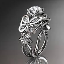 butterfly wedding rings images Artfire markets jpg