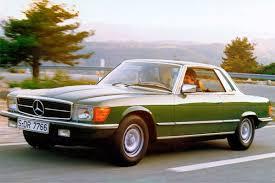 classic mercedes sedan mercedes benz slc c107 classic car review honest john