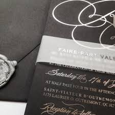 wedding invitations montreal an all black wedding invitation commands so much power faire
