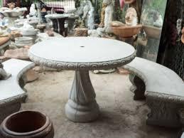 Concrete Patio Table Concrete Patio Table And Benches Outdoor Goods