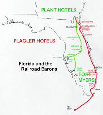 West Coast Of Florida Map by Florida Of The Railroad Barons