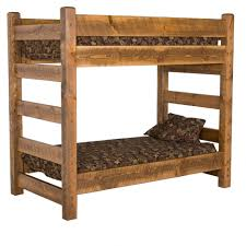 Barnwood Bunk Bed Honey Pine High Camp Home - Pine bunk bed