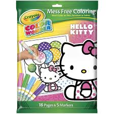 amazon com crayola color wonder hello kitty 18 page coloring pad