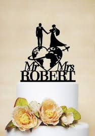 travel themed wedding cake topper mr u0026 mrs by acrylicdesignforyou