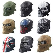 airsoft paintball full face skull skeleton cs mask tactical
