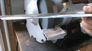 Sharpening Wheel For Bench Grinder How To Sharpen A Lawnmower Blade Youtube