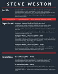 Bold Resume Template by Fancy Resume Resume Templates