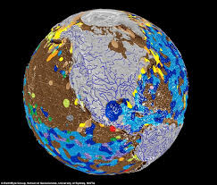 Topographic Map Of The World by What The Earth Would Look Like Without Oceans Daily Mail Online
