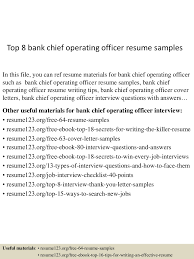 Sample Resume Objectives For Bank Teller by Chief Operating Officer Resume Resume For Your Job Application