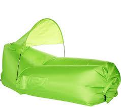 Big Joe Couch Pouchcouch Inflatable Couch W Sun Shade U0026 Pockets Shade U0026 Pockets