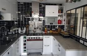 cuisines rennes cuisine laqué blanc brillant plan stratifié photo de cuisines