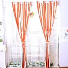 Orange And White Striped Curtains Orange Blackout Curtains U2013 Teawing Co