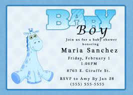 sample baby shower invitation for a boy