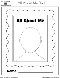 all about me coloring pages kids coloring