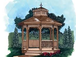 houseplans and more outdoor charleen style gazebo plan 063d 3002