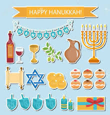 hanukkah stickers hanukkah sticker pack hanukkah icons with menorah torah