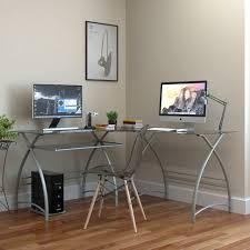 furniture awesome white modern computer desk for corner made of