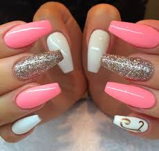 preppy coffin nails mani pedi pinterest coffin nails nail