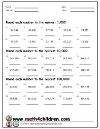 printables rounding to the nearest hundred thousand worksheets