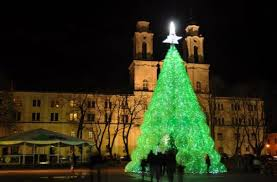 foodista plastic bottle christmas tree lights up lithuania