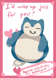 Snorlax Meme - pokemon valentine featuring snorlax film tv related valentines