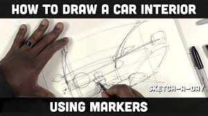 lexus interior sketch how to sketch a car interior using markers youtube