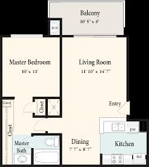 Pizzeria Floor Plan by Village Green Senior Apartments Home
