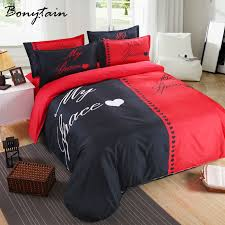 his and hers bed set aliexpress buy 3 4pcs 1 set his sidequeen king size