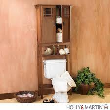 mission oak over toilet storage bathroom cabinet martin ebay