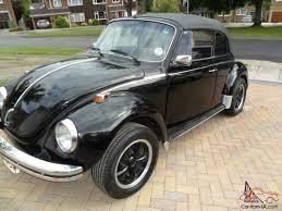 black volkswagen beetle 1975 volkswagen beetle black karmann cabrio