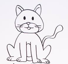 imágenes de gatos fáciles para dibujar dibujos de gatos cómo dibujar gatos fácil para colorear