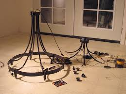 Rewiring A Chandelier by Wrought Iron Chandelier Fig Tree Sundays