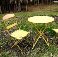 Vintage Bistro Chairs Gorgeous Vintage Bistro Table And Chairs Victorian Industrial Rare
