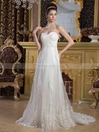 hem wedding dress empire cut tulle wedding dress with beading details and lace hem