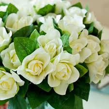 gardenia bouquet 25 free shipping nostalgic gardenia floral silk flower table
