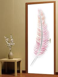 online get cheap feather wall stickers aliexpress com alibaba group 2 pcs set wall stickers diy 3d colorful feathers door stickers bedroom living room bathroom door stickers decoration waterproof