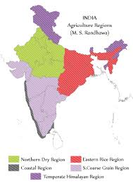 Blank Maharashtra Map by India Agriculture Regions M S Randhawa Map By Yathish On