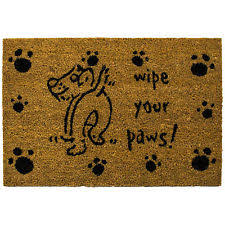 Rubber Cal Wipe Your Paws Wipe Your Feet Doormat Ebay